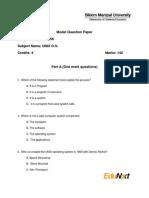 BC0056 Model Question Paper UNIX O.S