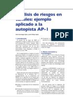 Análisis de riesgos en túneles ejemplo aplicado a la autopista AP1