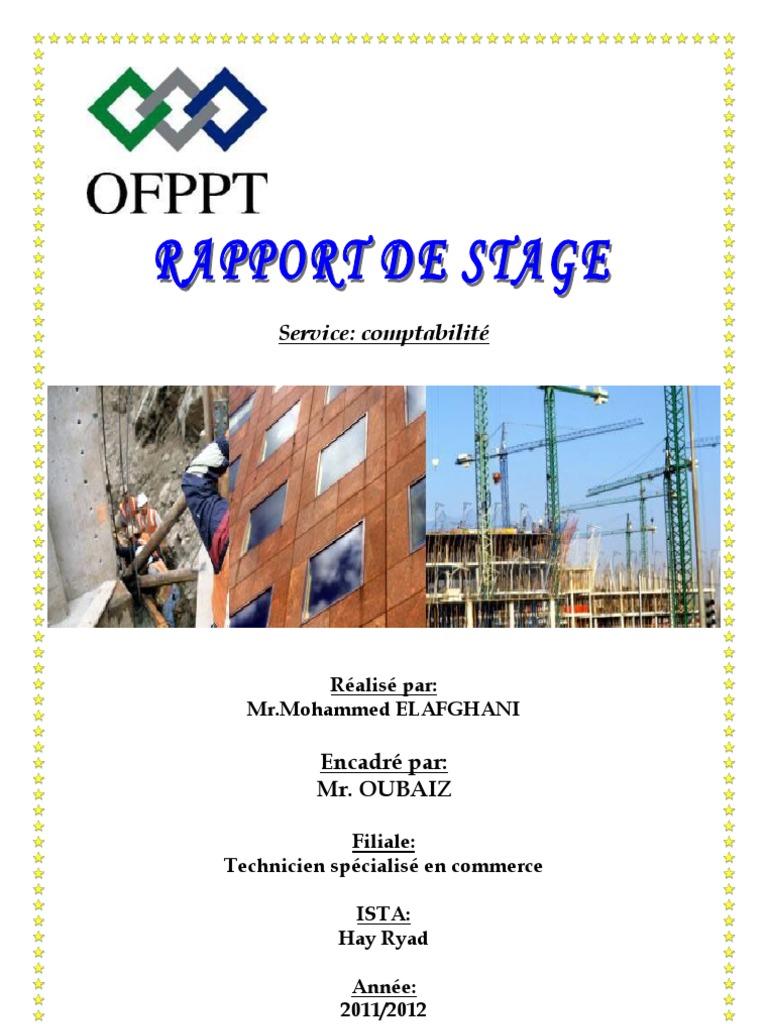 Rapport de stage service comptabilit 2 - Rapport de stage en cuisine ...