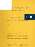 Solomon R. Guggenheim Foundation_Museum of Non-Objective Painting - Opening April 29, 1952