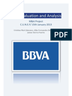 BBVA valuation 2012