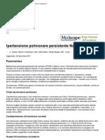 Persistent Newborn Pulmonary Hypertension EMEDICINE