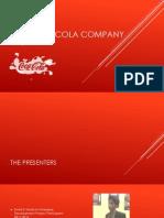 The Coca Cola Company Presentation (Final) (Strat. Mgt. 413)