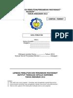 Panduan Laporan Akhir Penelitian 2012