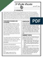 5th grade gazette july 30th 20120