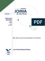 Os Três Ciclos da Sociedade e do Estado - Bresser Pereira