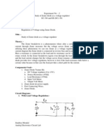 Study of Zener Diode as a Voltage Regulator