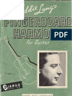 Eddie Lang s Fingerboard Harmony for Guitar