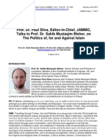 Interview Prof Silva Prof Bleher on the Politics of, For and Against Islam