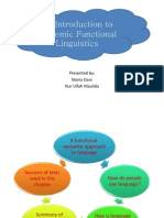 An Introduction to Systemic Functional Linguistics