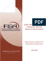Consolidated Financial Sector Regulation in Kenya