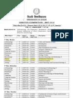 Date Sheet 2013
