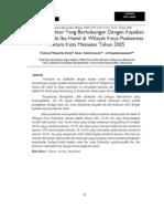 Faktor Faktor Yang Berhubungan Dengan Kejadian Anemia Pada Ibu Hamil Di Wilayah Kerja Puskesmas Antara Kota Makassar Tahun 2005