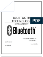 49182569 Bluetooth Seminar Report