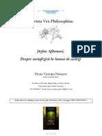[Vox Philosophiae] Horia Vicenţiu Pătraşcu, Despre metafizică în lumea de astăzi (Ştefan Afloroaei, Metafizica noastra de toate zilele, Humanitas, 2009, 360 pagini, ISBN:9788735024017)