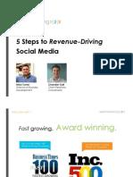 5 Steps to Revenue-Driving Social Media by Webmarketing123