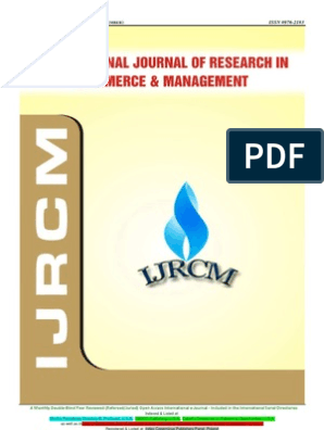 Ijrcm 1 Vol 3 Issue 9 | Retail | Customer Satisfaction