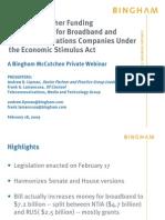 Stimulus Webinar Bingham feb 18 2009