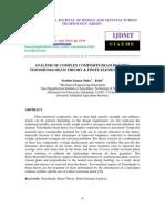 Analysis of Complex Composite Beam by Using Timoshenko Beam Theory