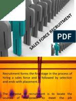 Sales Force Recruitment