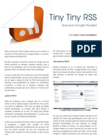 Tiny Tiny RSS(bye bye Google Reader)