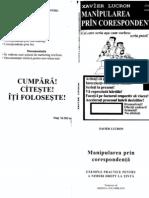 Manipularea Prin Corespondenta XAVIER LUCRON (1)