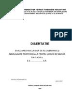 Evaluare riscuri Galvanizator, Lacatus Mecanic, Electrician
