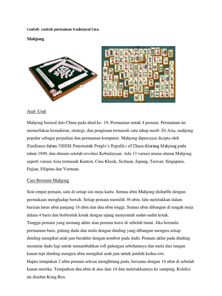 Permainan Tradisional Cina