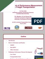 S46_Development of Performance Measurement for Freight Management_LTC2013