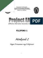 Modyul 2 Mga Ponema Ng Filipino