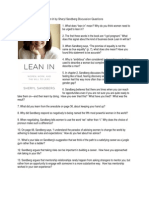 Lean in by Sheryl Sandberg Discussion Questions