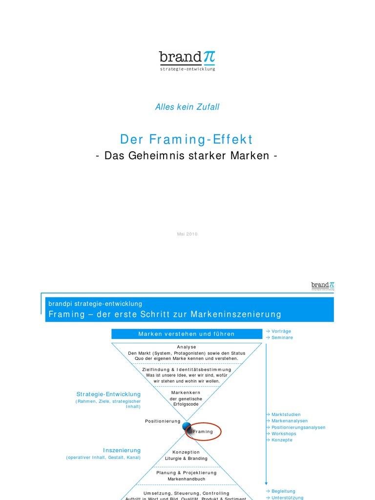 Der Framing-Effekt - Das Geheimnis Starker Marken