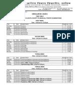 Circular 20 Theory Time Table UGPG 200313