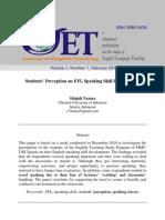 3 Students Perception on EFL Speaking Skill Development (Pp 28-43)