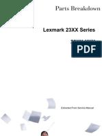 Lexmark Parts List 23xx