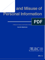 Abuse and Misuse of Personal Information