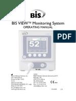Aspect Medical BIS View Monitor - User Manual