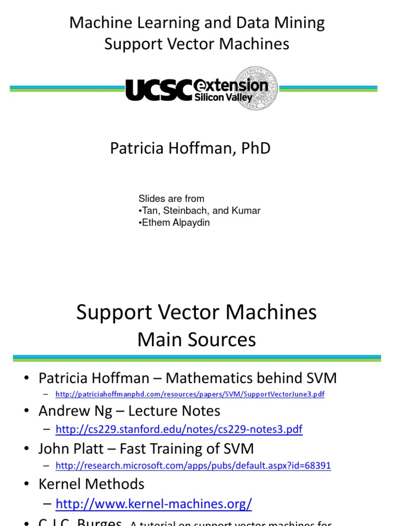 Svm Tricia | Support Vector Machine | Applied Mathematics