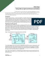 Altera Using LEDs as Light-Level Sensors and Emitters