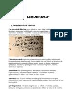 Leadership - Caracteristicile Liderilor