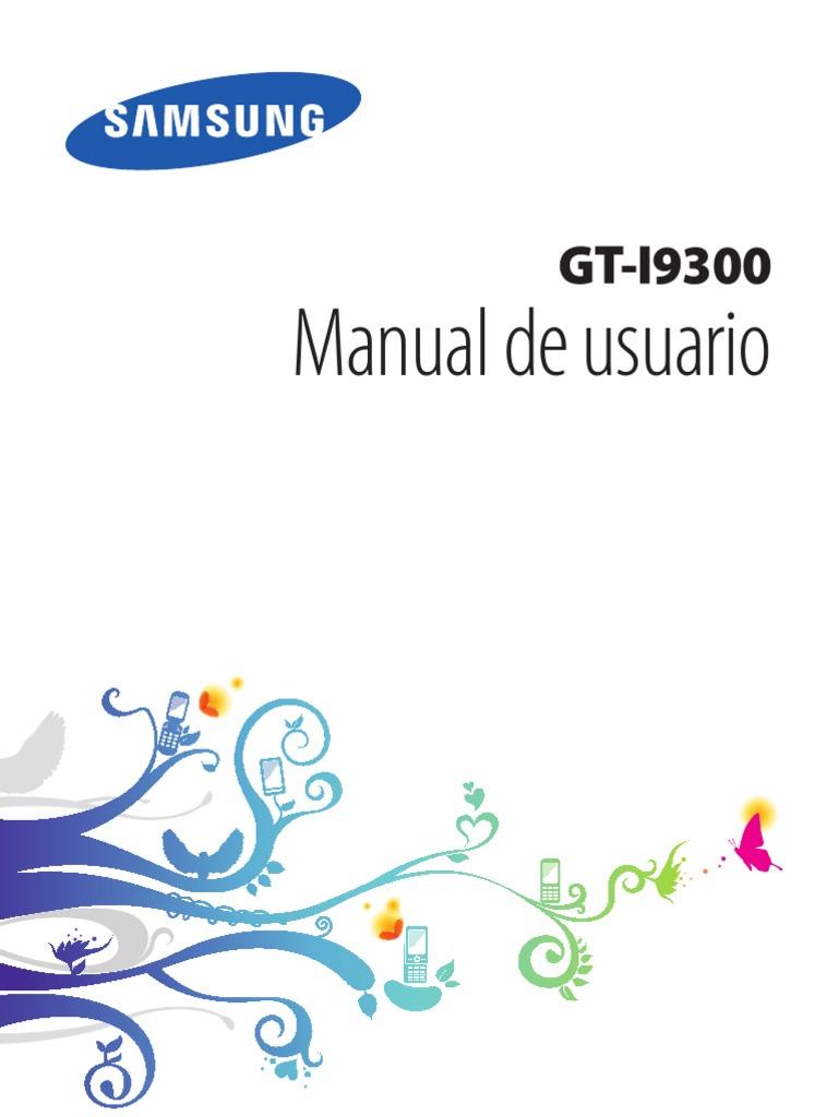 manual de usuario samsung galaxy s3 i9300 espa u00f1ol