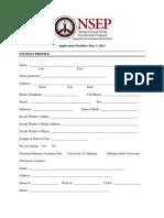 NSEP 2013 Summer Academy Application