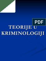 Teorije u Kriminologiji 2011