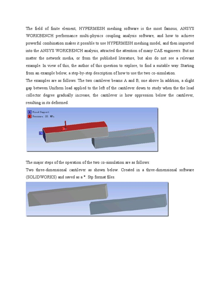 Hypermesh to ansys workbench finite element method 3 d modeling baditri Image collections