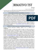Informativo TST nº 013