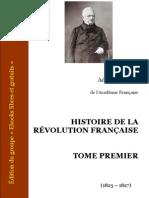 Thiers, Adolphe - Histoire de la Révolution française I