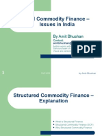 Structured Commodity Finance - Issues in India