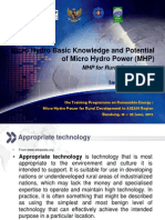 2.c. Micro Hydro Basic Knowledge and Potential - MHP for Rural Development - Iman Permana