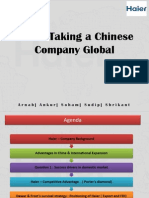 International Business_Haier Taking a Chinese Company Global