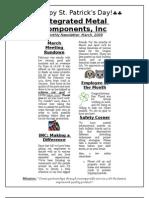 IMC Newsletter March 2009